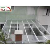cobertura de alumino e vidro preço Morumbi
