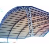 cobertura metálica em arco Cidade Ademar