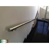 corrimão de inox para escada Morumbi