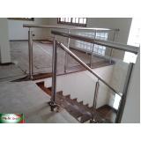 empresa de corrimão de inox com vidro Campo Belo