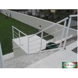 empresa de corrimão em alumínio para escada Moema