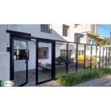 fachada de alumínio de vidro preço Campo Belo