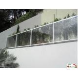 guarda corpo de alumínio e vidro preço Jardim Paulistano