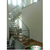 guarda corpo inox escada Pinheiros