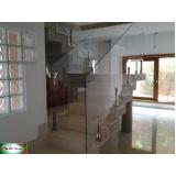 orçamento de guarda corpo de vidro com spider e vidro Moema