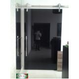 porta de alumínio com vidro Moema