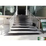 quanto custa guarda corpo de inox para escada Itaim Bibi