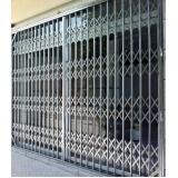 quanto custa porta pantográfica de ferro Campo Belo