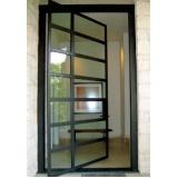 quanto custa porta pivotante de alumínio Morumbi